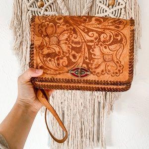 Vintage Leather Embossed Purse